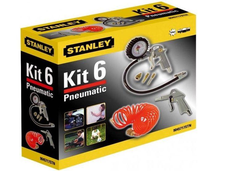 STANLEY 9045717STN 6-dílná sada nářadí - ofukovací a hustící pistole, příslušenství
