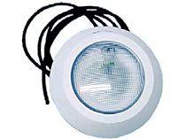 Bazénový U/W reflektor 100W plochý pro beton 12V PAR56, bílý ABS plast, kabel 3m, 1.5kg