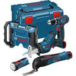 Zobrazit detail - Sada aku nářadí Bosch 5 ToolKit 10,8V-LI (GSR+GOP+GSA+GLI+GML)