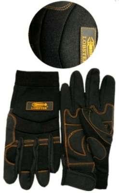 Pracovní rukavice Lobster - Black, nylon / kůže, vel. XXL