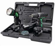 Hitachi DS14DCLTA - 2x 14.4V/1.5Ah, 37Nm, 2 rychl., 1.5kg, kufr, aku vrtačka bez příkl. + aku svítilna