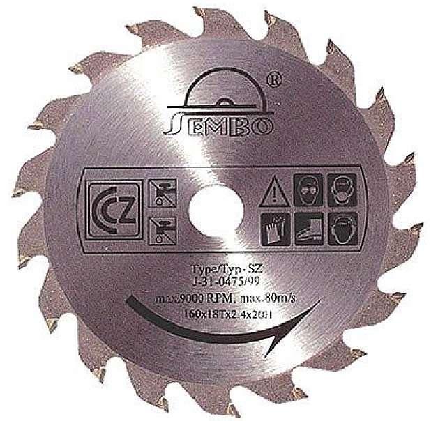 Pilový kotouč Sembo SZ 170x30x2,2mm; 24 zubů na dřevo, lamino a plasty