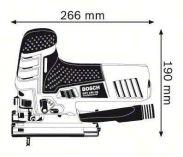Bosch GST 150 CE Professional přímočará pila + kufr (0601512000) Bosch PROFI