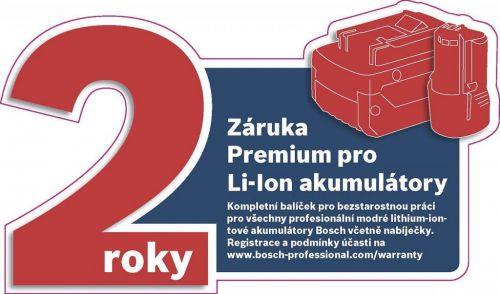 2 letá záruka Li-Ion akumulátory a nabíječky Bosch Professional