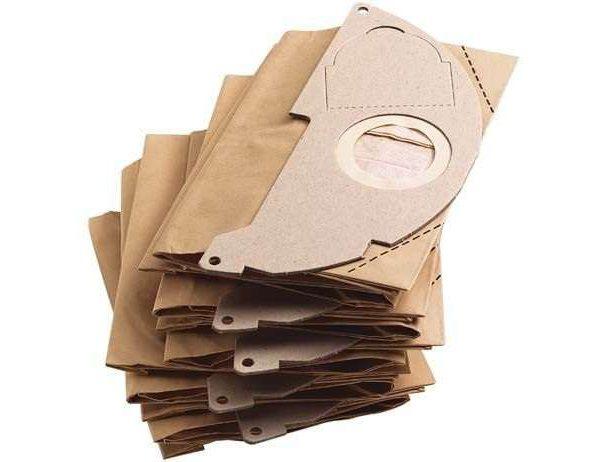Papírové filtrační sáčky - náhradní pytle do vysavače Kärcher WD 2, MV 2, WD 2.200, A 20xx (6.904-322.0) - 5ks