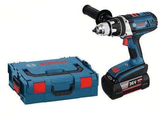 Bosch GSR 36 VE-2-LI Compact Professional aku vrtačka bez příklepu 2x 36V/4.0Ah, kufr L-Boxx Bosch PROFI