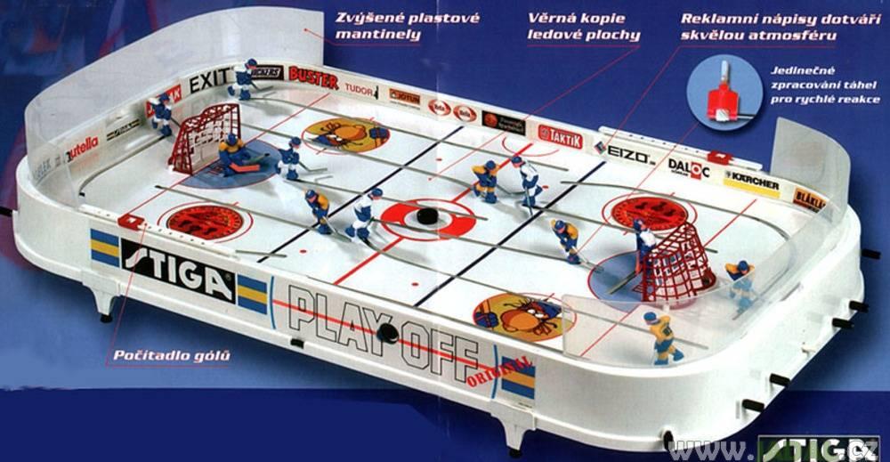 STIGA stolní hokej Play Off + návodové DVD s hokejovou školou zdarma