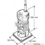 Makita 3710 jednoruční ohraňovací frézka
