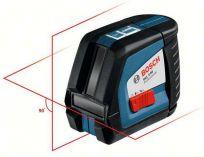 Bosch GLL 2-50 Professional + Vložka pro L-BOXX, Zaměřovací terč, Profi křížový laser