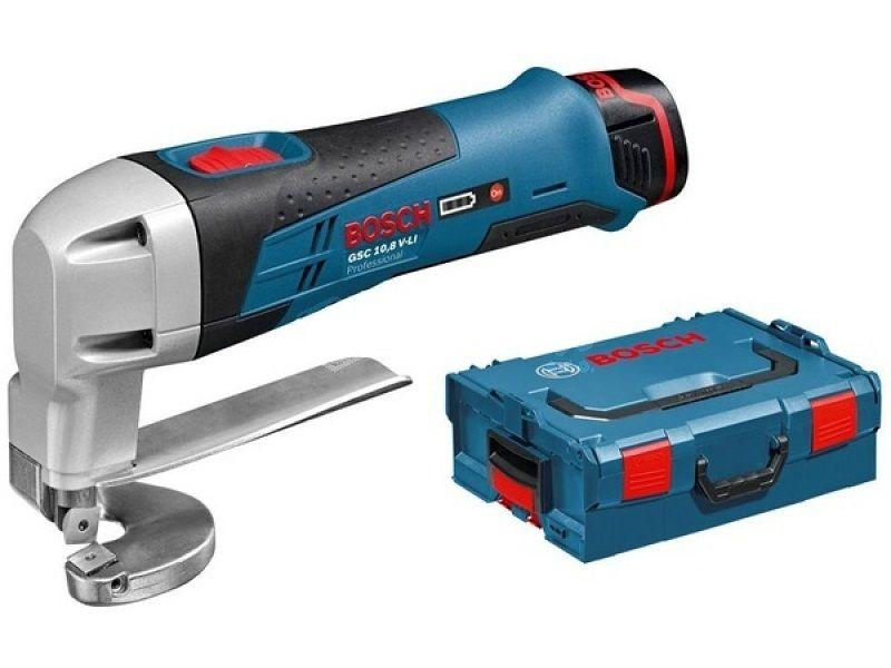Bosch GSC 10,8 V-LI Professional aku nůžky na plech 2x 2,0Ah + L-Boxx