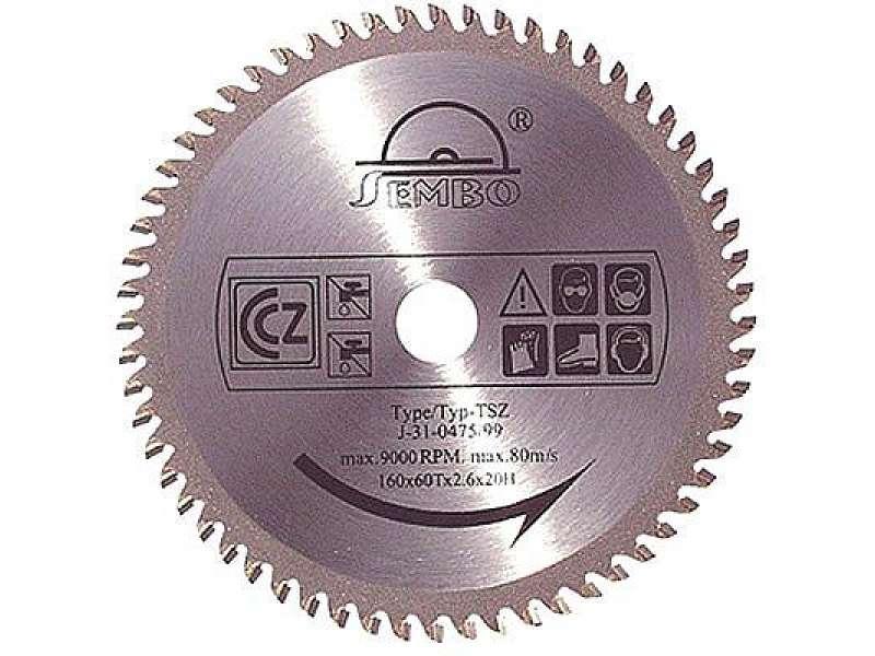 Pilový kotouč Sembo SZ 180x30x2,6mm; 40 zubů pro Lamino, dřevo, plasty