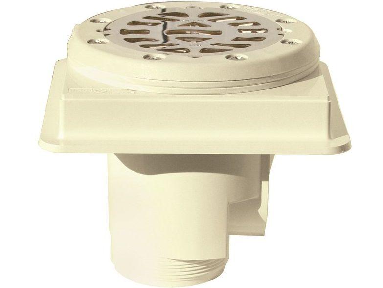 Bazénová podlahová výpusť ABS, nerez SS316, pro fólie - MTS, bílý plast, 0.94kg (308256) Hanscraft