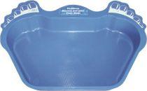 Vanička na nohy plastová - modrá, na oplach nohou před vstupem do bazénu, 0.3kg