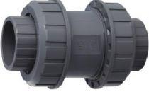 Ventil - průměr 63 mm - kuželový zpětný, PVC, šedý, 1.23kg