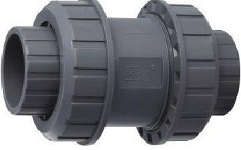 Ventil - průměr 63 mm - kuželový zpětný, k propojení trubek, PVC, šedý, 1.23kg (313021) Hanscraft