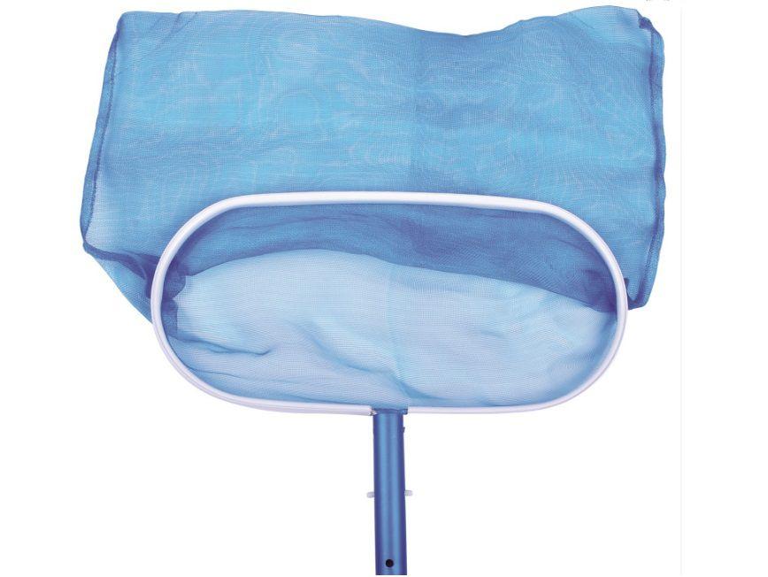 Bazénová síťka hlubinná - ALU rám, pro odstranění nečistot ze dna i hladiny bazénu, modrá, 0.4kg (311043) Hanscraft