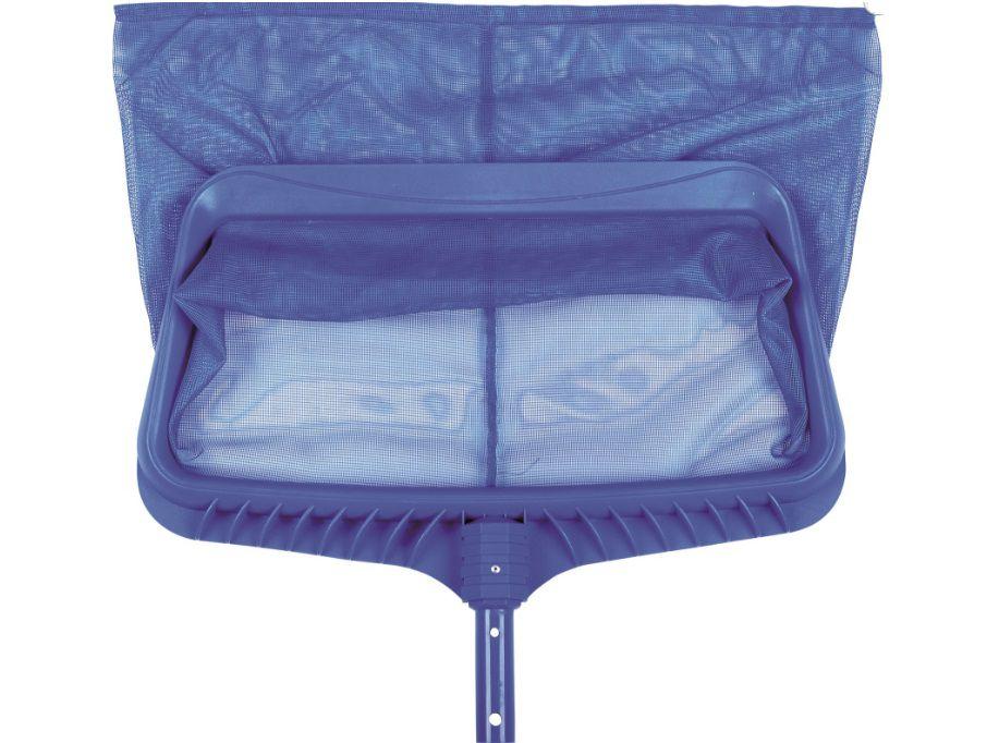 Bazénová síťka hlubinná HARD - pro odstranění nečistot ze dna i hladiny bazénu, modrý plast, 0.7kg (311042) Hanscraft