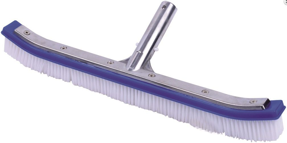Bazénový kartáč vyztužený - 45cm, hliník/plast, k odstranění nečistot ze dna a stěn bazénu, na teleskopickou tyč, 0.3kg (311065) Hanscraft