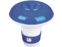 Bazénový plovoucí dávkovač chemie velký - 22cm, na tablety nebo granulát, s regulací, 0.38kg