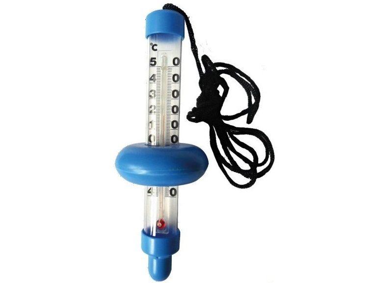 Bazénový teploměr plovoucí nad hladinou, -30°C až +50°, s plováčkem, neobsahuje rtuť, 0.3kg (311113) Hanscraft