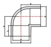 Koleno 90° lepení/lepení - průměr 160mm, k propojení trubek, PVC, černé, 3.6kg (313049) Hanscraft