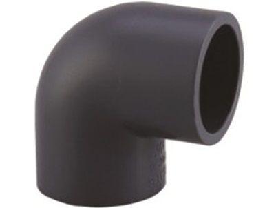 Koleno 90° lepení/lepení - průměr 75mm, k propojení trubek, PVC, černé, 0.45kg (313042) Hanscraft