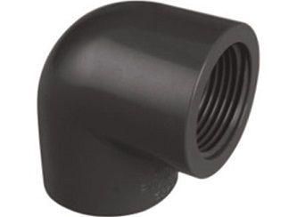 """Koleno 90° lepení/závit interní 110x4"""", ke spojení trubek, PVC, černé, 1.58kg (313411) Hanscraft"""