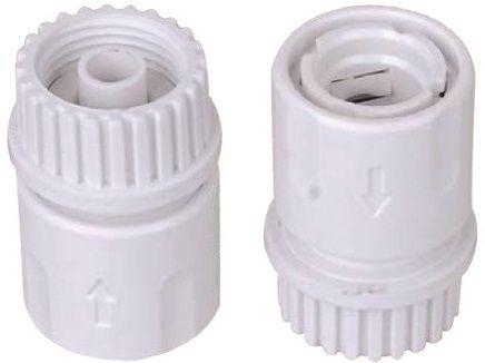 """Koncovka k zahradní hadici 3/4"""", k propojení s bazénovým vysavačem, bílý plast, 0.15kg (311360) Hanscraft"""