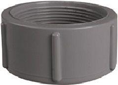 Koncovka závit - průměr 50mm, k uzavření trubky, PVC, šedá, 0.07kg (313430) Hanscraft