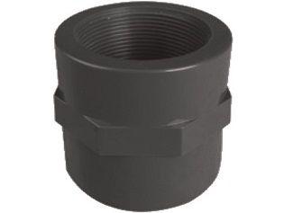 """Mufna lepení/závit interní 63x2"""", PVC nátrubek ke spojení dvou trubek, černý, 0.20kg (313301) Hanscraft"""
