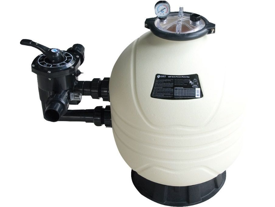 Písková filtrace do bazénů HANSCRAFT GECCO SIDE 775 - 23.5m3/h, boční filtrační nádoba, 0.47m2, 320kg písku, 41.5kg (304154)