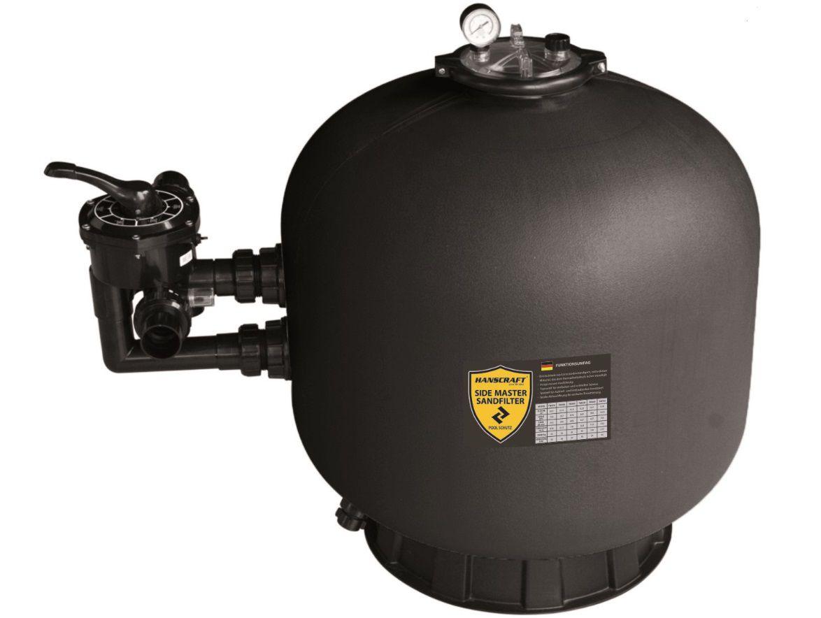 Písková filtrace do bazénů HANSCRAFT SIDE MASTER 650 - 15.30m3/h, boční filtrační nádoba, písek 145kg, 0.31m2, 19.5kg (304052)