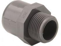"""Přechodka lepení/závit externí M/F 50x40x1"""", PVC tvarovka šedá, 0.08kg"""