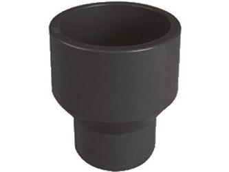 Redukce dlouhá lepení/lepení 50x25mm, k propojení trubek, PVC, černá, 0.08kg (313107) Hanscraft