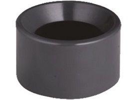 Redukce krátká lepení/lepení 50x25mm, k propojení trubek, PVC, černá, 0.05kg (313357) Hanscraft