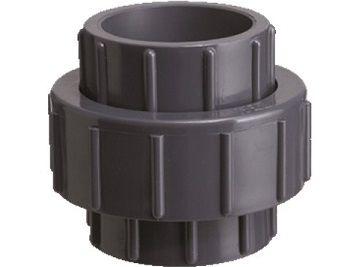 Šroubení 3-dílné lepení/lepení 63mm, rozebíratelný spoj k propojení trubek, PVC, černé, 0.43kg (313311) Hanscraft