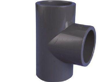 T-kus 90° lepení/lepení - průměr 75mm, k propojení trubek, PVC, černý, 0.59kg (313032) Hanscraft