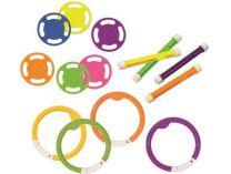 3v1 Combo set potápějících se hraček, sada bazénových hraček, různé barvy, plast, 0.55kg
