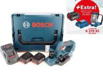 Bosch GHO 18 V-LI Professional - 2x 18V/5.0Ah + extra 1x Aku + GLI VariLED + GAA 18V-24 + L-Boxx
