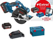 Bosch GKM 18 V-LI Professional - 2x 18V/5.0Ah + extra 1x Aku + GLI VariLED + GAA 18V-24 + L-Boxx