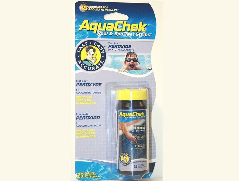 AquaChek testovací proužky - 3v1 - peroxid, pH a celková alkalita, k testování vody ve vířivce, 0.07kg (318341) Hanscraft