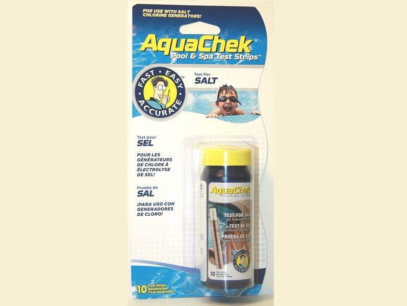 AquaChek testovací proužky - sůl 400-7000 mg/l, ideální pro bazény se solnými chlorátory, 0.07kg (318329) Hanscraft