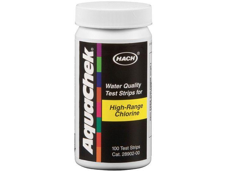 AquaChek testovací proužky - volný chlór, vysoká hranice 0-600mmp, k testování vody v bazénu a vířivce, 0.05kg (318324) Hanscraft
