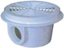 """Bazénová dnová výpusť kruhová - odtok 1 1/2"""", bílý ABS plast, 0.6kg"""