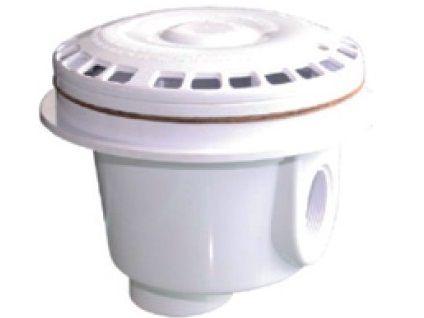 "Bazénová podlahová výpusť 1 1/2"", bílý ABS plast, 0.6kg (308252) Hanscraft"