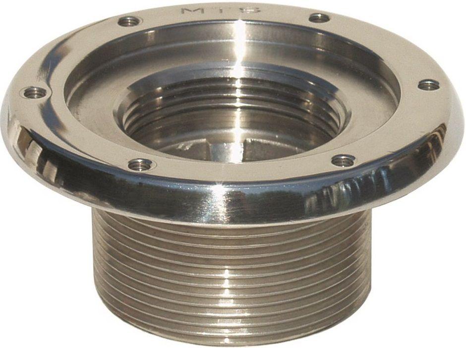 """Bazénový základní prvek 2"""" 40mm nerezový pro fólie - součást trysky MTS, nerez AISI 316, 0.5kg (308331) Hanscraft"""