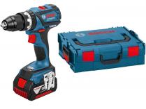 Bosch GSB 18 V-EC Professional - 2x18V/2.0Ah, 60Nm, 1.5kg, kufr L-BOXX, bezuhl. aku vrtačka s příkl.