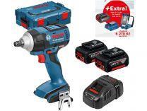 Bosch GDS 18 V-EC 250 Professional - 2x 18V/5.0Ah + extra 1x Aku + GLI VariLED + GAA 18V-24 + L-Boxx