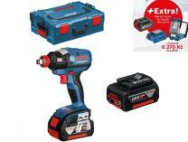 Bosch GDX 18 V-EC Professional - 2x18V/5.0Ah + extra 1x Aku + GLI VariLED + GAA 18V-24 + L-Boxx