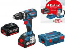 Bosch GSB 18 V-EC Professional - 2x 18V/5.0Ah + extra 1x Aku + GLI VariLED + GAA 18V-24 + L-Boxx